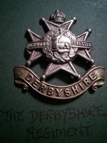 The Derbyshire Regiment cap badge