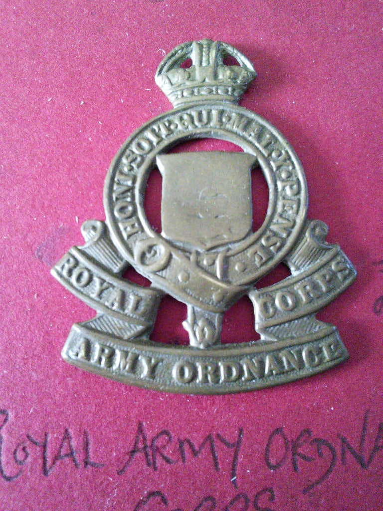 Original cap badge Royal Army Ordnance Corps