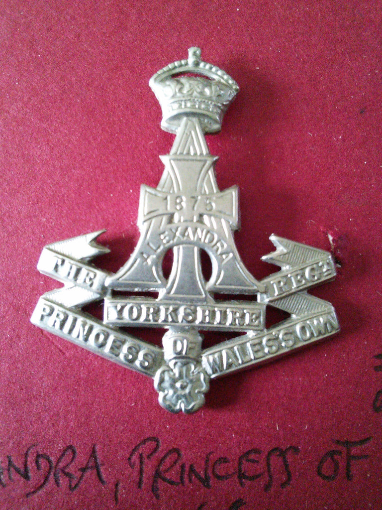 Original cap badge Alexandra, Princess of Wales's Own (Yorkshire Regiment)