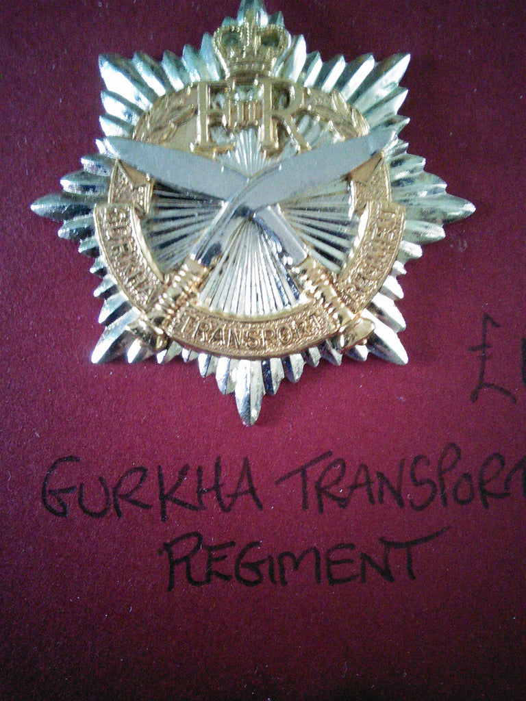 Original cap or beret badge Gurkha Transport Regiment