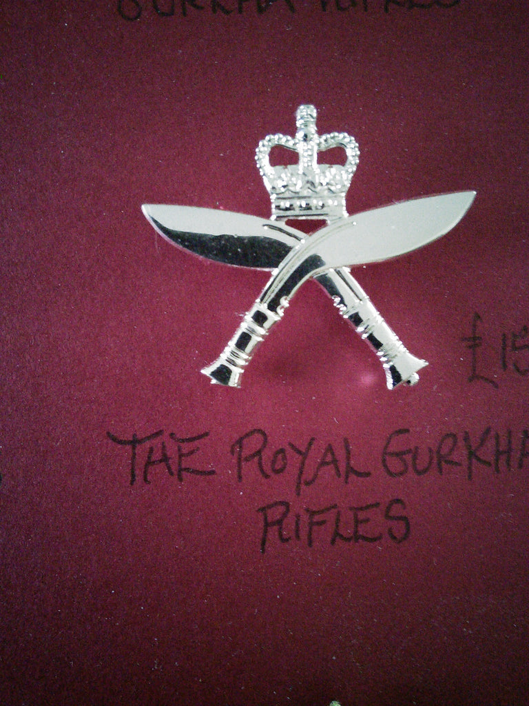 Original cap badge The Royal Gurkha Rifles