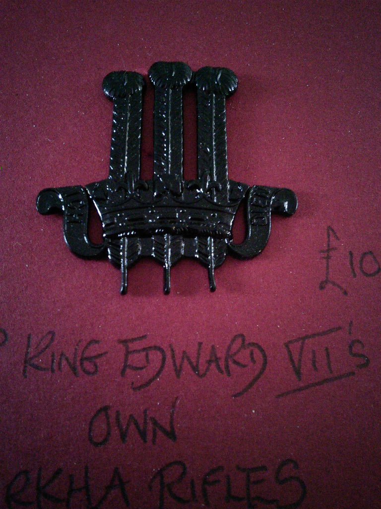 Original cap badge 2nd King Edward VII's Own Gurkha Rifles (The Sirmoor Rifles)