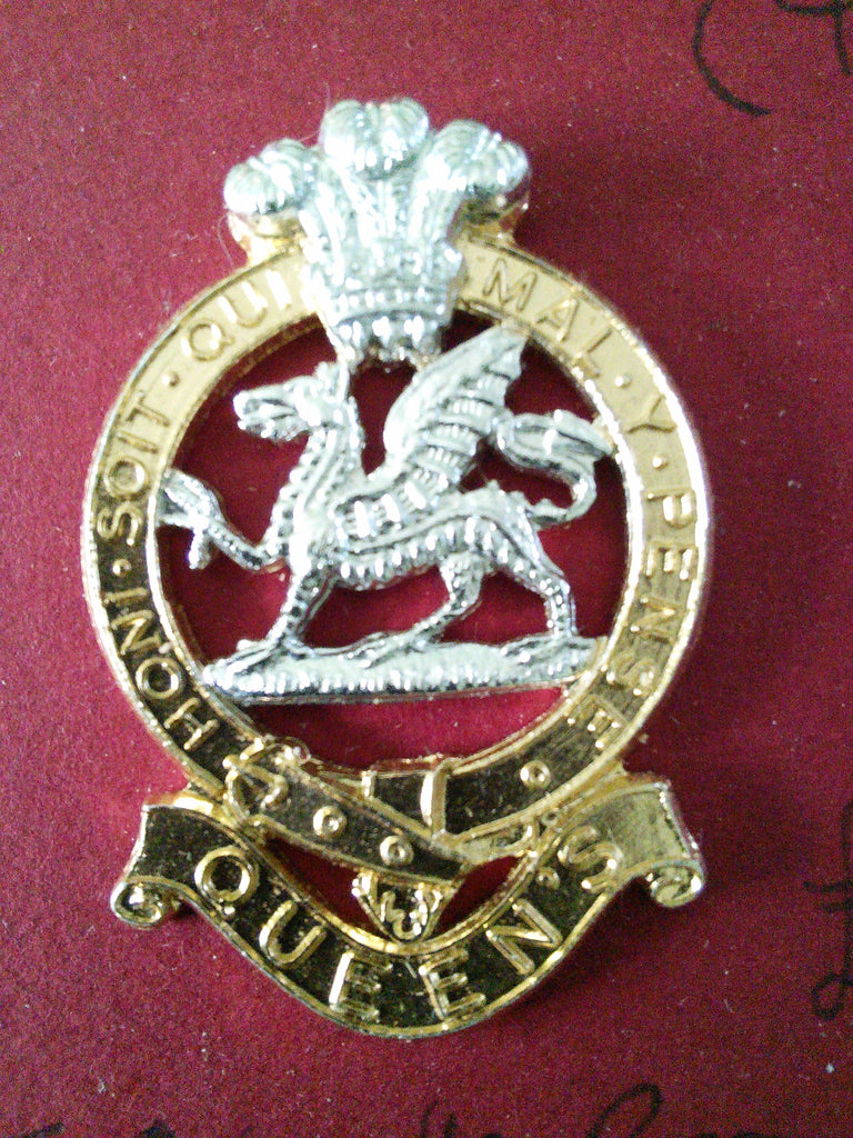 The Queen's Regiment - original anodised cap badge