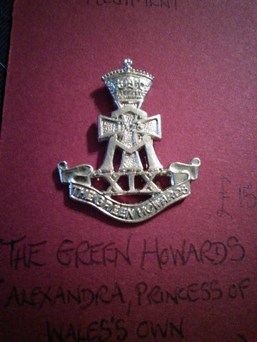 Original anodised cap badge The Green Howards (Alexandra, Princess of Wales's Own Yorkshire Regiment)