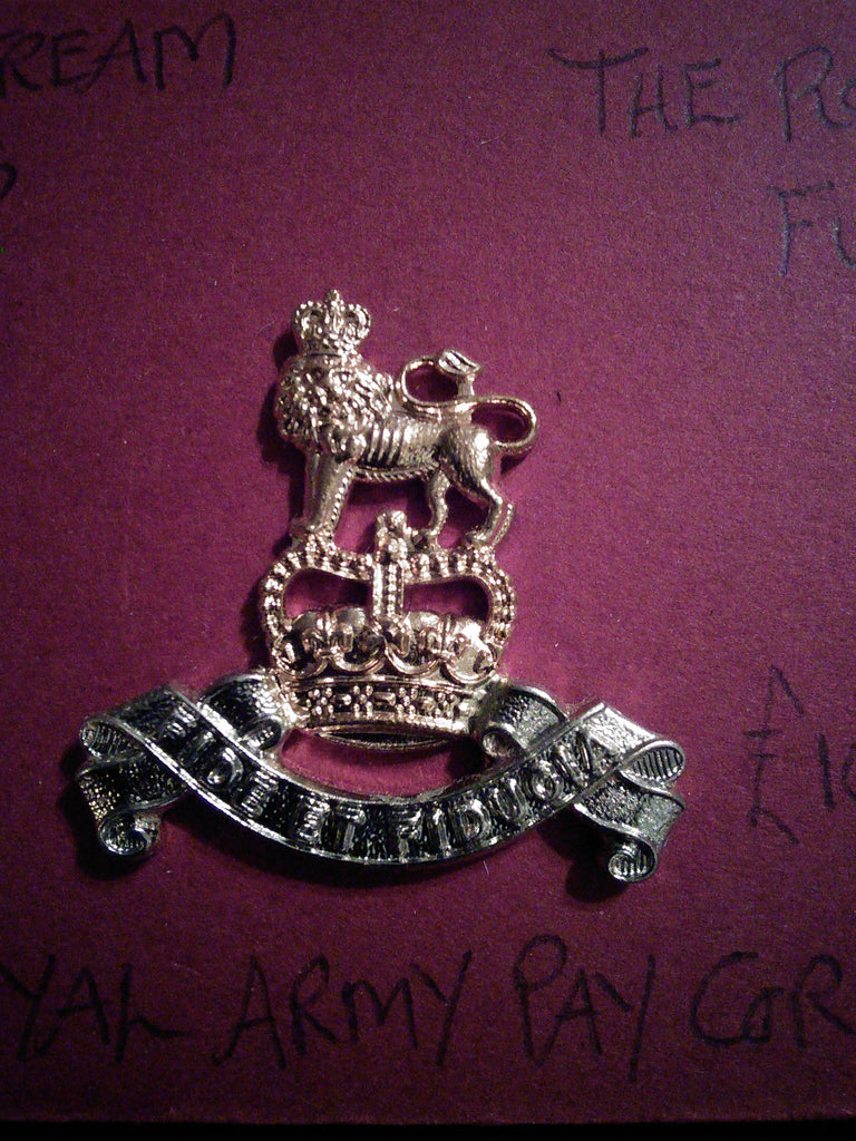 Royal Army Pay Corps original anodised cap badge