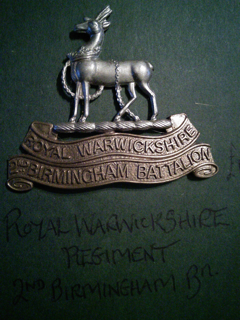 Cap badge Royal Warwickshire Regiment 2nd Birmingham Battalion