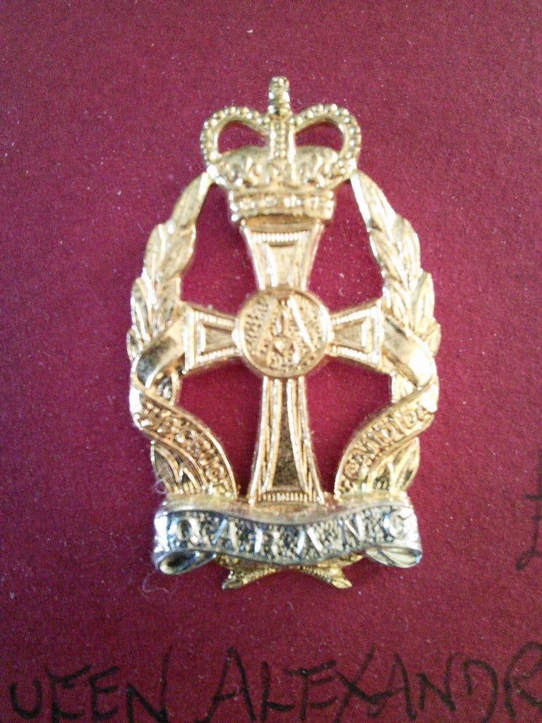 Original anodised cap badge Queen Alexandra's Royal Army Nursing Corps