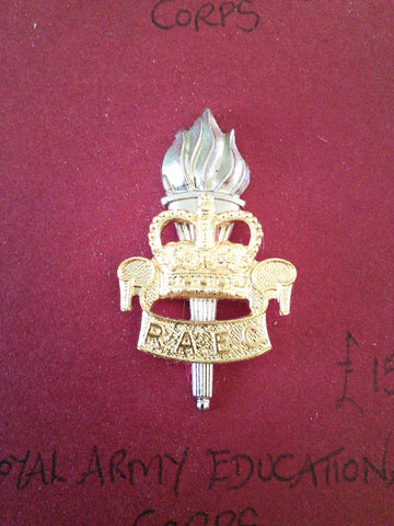 Original anodised cap badge Royal Army Educational Corps
