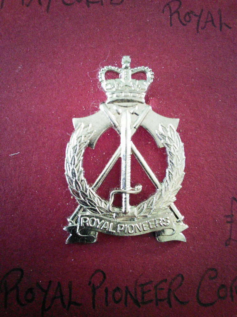 Original anodised cap badge The Royal Pioneer Corps