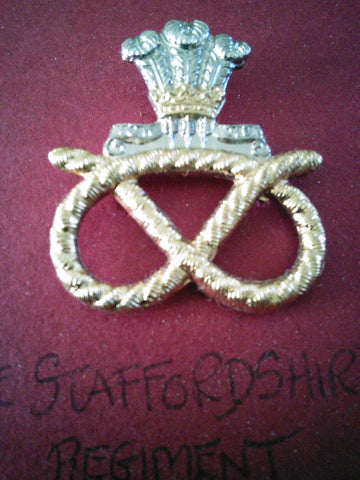 Original anodised cap badge The Staffordshire Regiment (The Prince of Wales's)