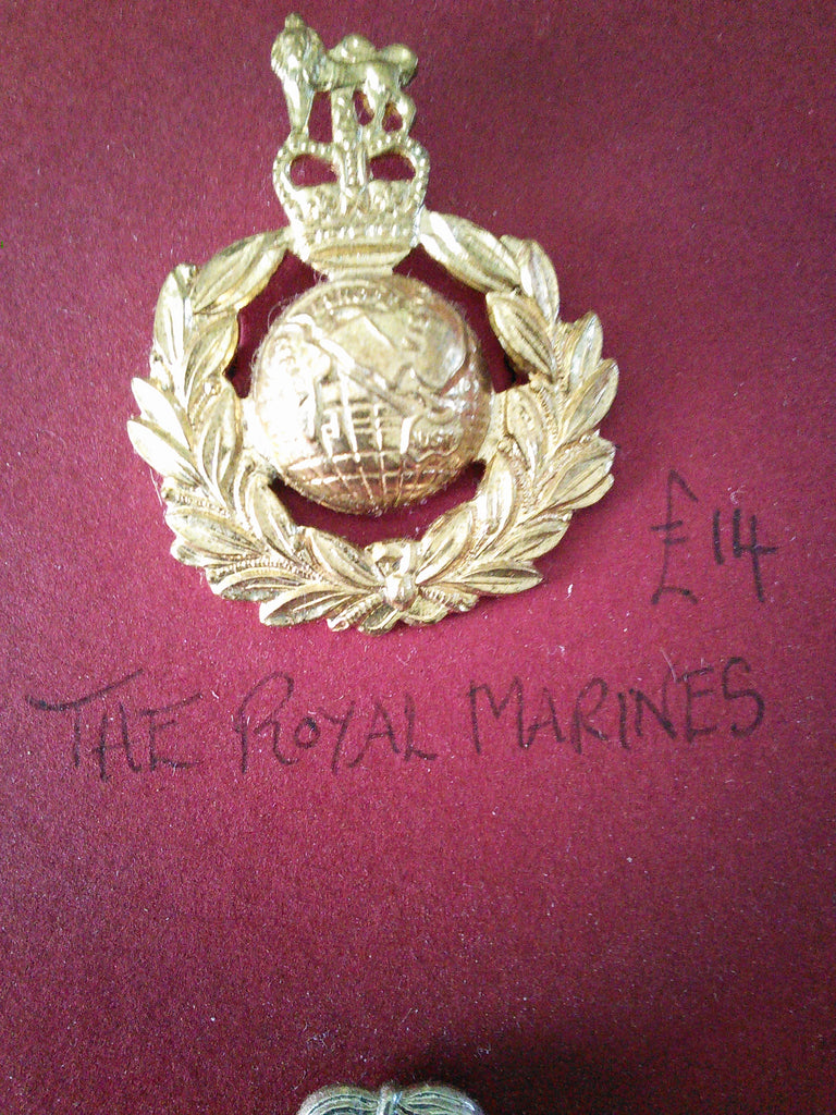 Original anodised cap badge The Royal Marines