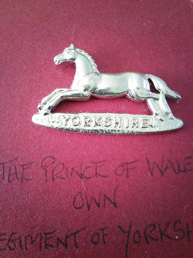 Original anodised cap badge The Prince of Wales's Own Regiment of Yorkshire