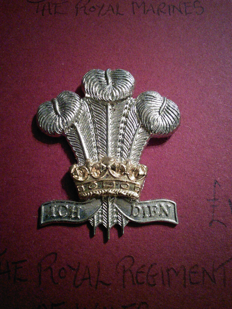 Original anodised cap badge The Royal Regiment of Wales (24th/41st Foot)