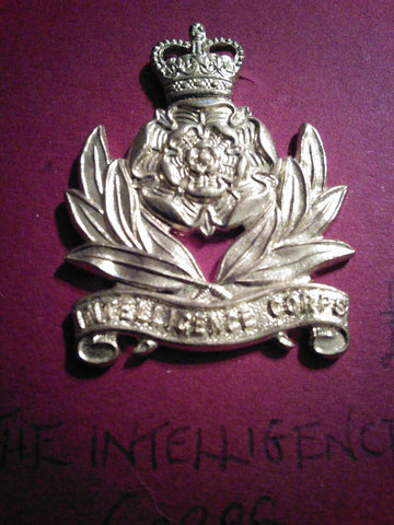 Original anodised cap badge The Intelligence Corps