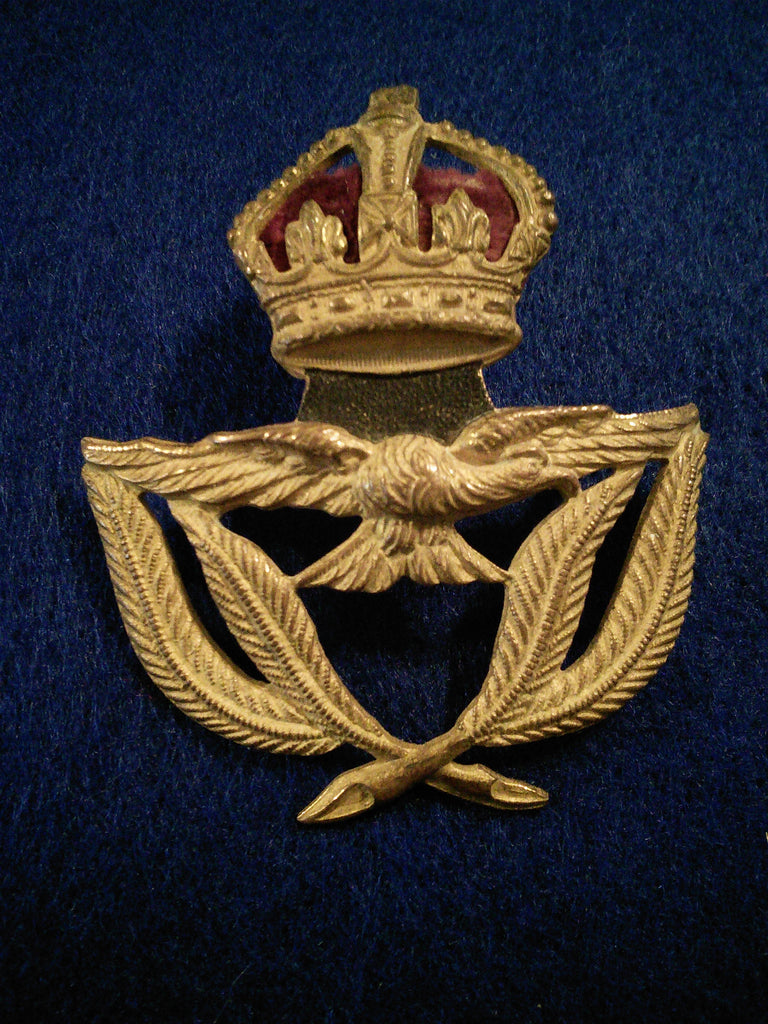 WW2 Royal Air Force Warrant Officers Service cap badge