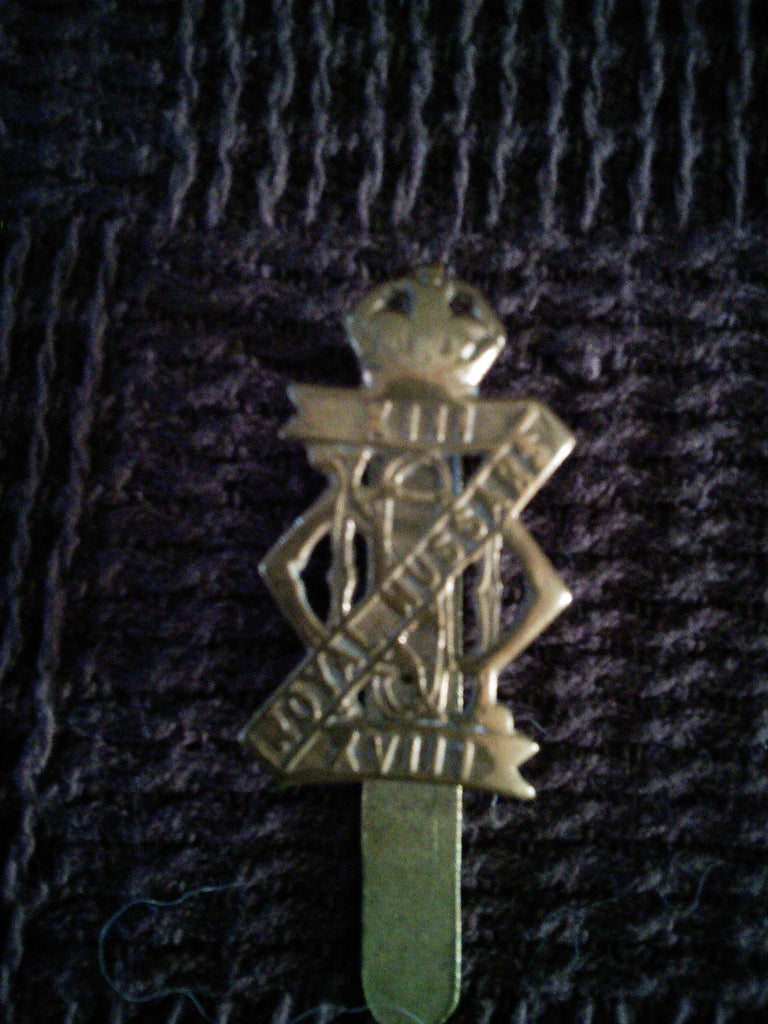 Cap badge - 13th/18th Royal Hussars (Queen Mary's Own)