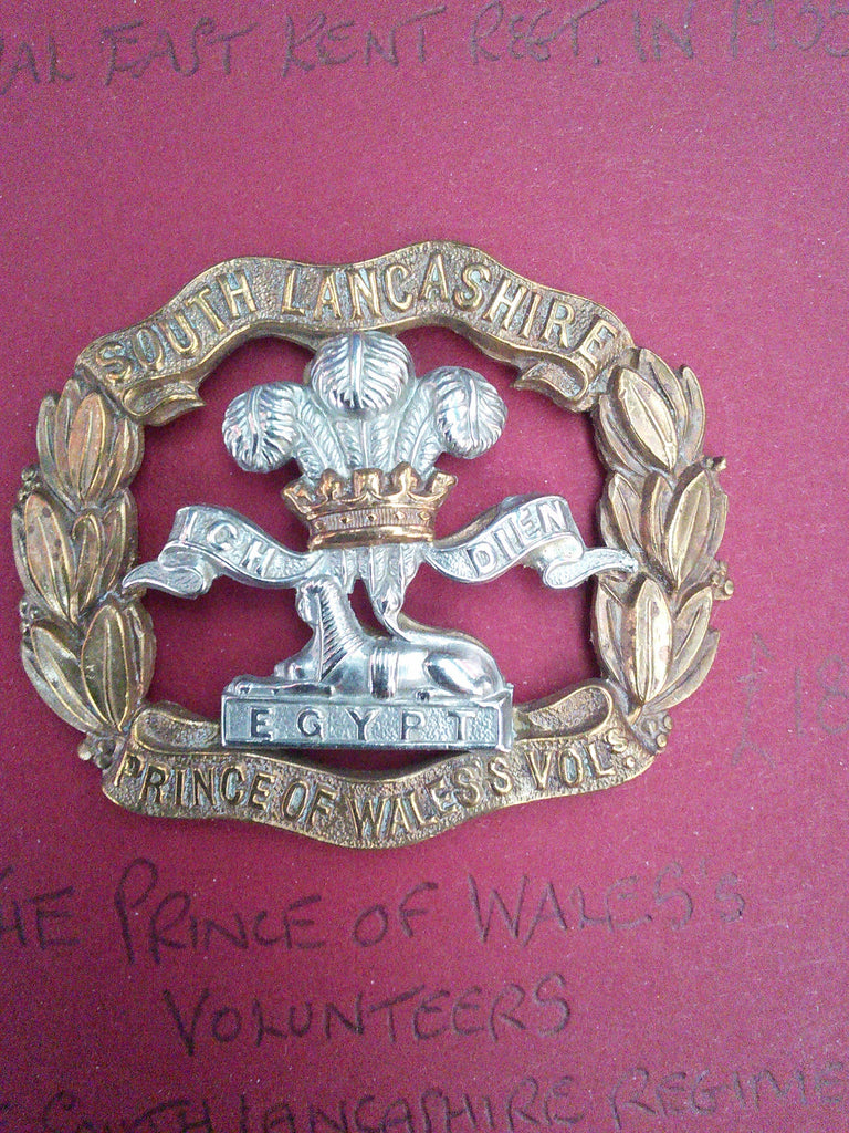 Original cap badge The Prince of Wales's Volunteers (The South Lancashire Regiment)