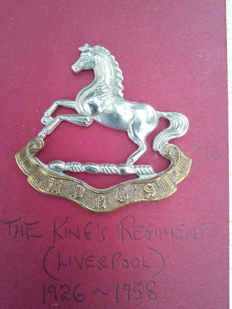 Original cap badge The King's Regiment (Liverpool)