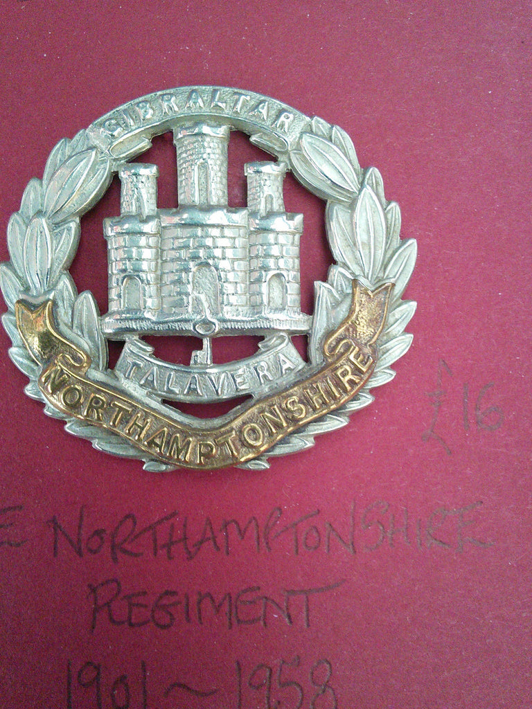 Original cap badge The Northamptonshire Regiment