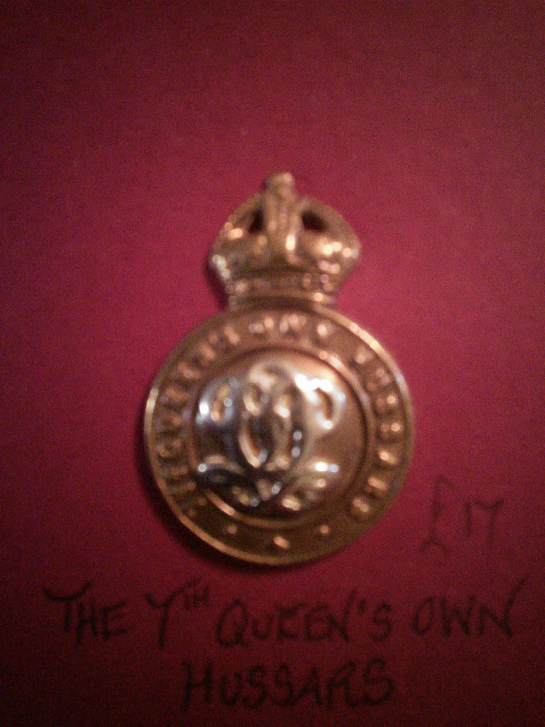 Original cap badge The 7th Queen's Own Hussars