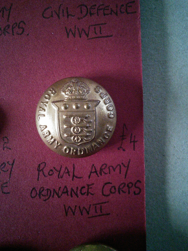 Original Royal Army Ordnance Corps button