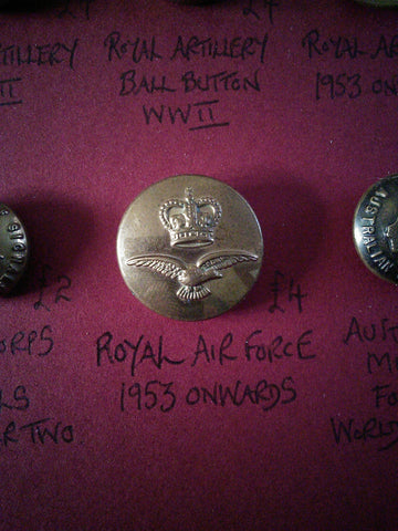 Original Royal Air Force button