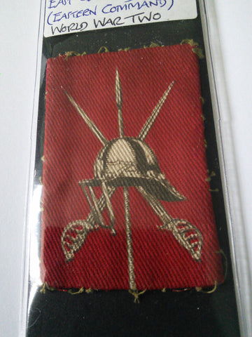 Original WW2 cloth arm badge Central Midland District East Central District (Eastern Command)