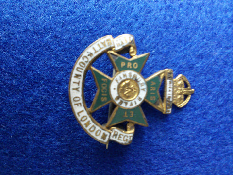 Original WW1 regimental sweetheart brooch 11th County of London Battalion (Finsbury Rifles)