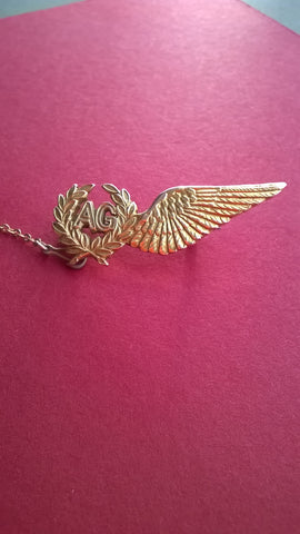WW2 RAF Air Gunner's Brevet Gold Sweetheart Brooch