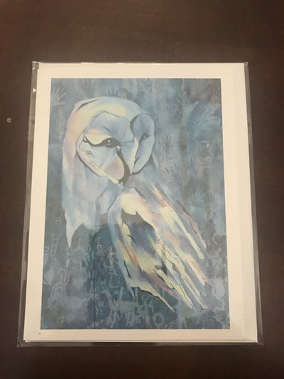 Snowy owl greeting card (5930799857822)