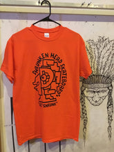 Load image into Gallery viewer, Shrunken Head Gonz tee - Orange