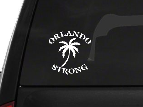 Orlando Strong Palm Tree (F23) Support Vinyl Decal Sticker Car/Truck Laptop/Netbook Window