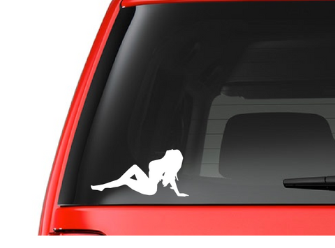 Girl Leaning (G3) Vinyl Decal Sticker Car/Truck Laptop/Netbook Window