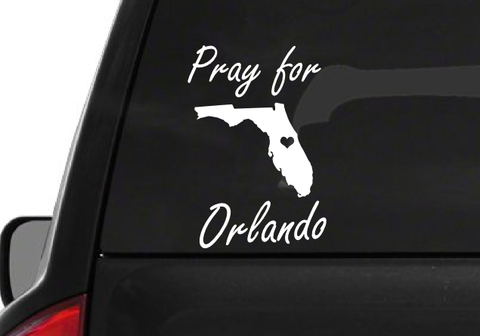 Pray for Orlando (H1) Florida Support Strong Vinyl Decal Sticker Car/Truck Laptop/Netbook Window