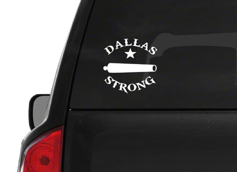 Dallas Strong Cannon (H2) Texas Support Vinyl Decal Sticker Car/Truck Laptop/Netbook Window