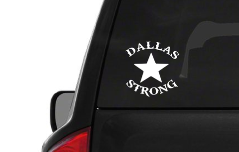 Dallas Strong Star (H3) Texas Support Vinyl Decal Sticker Car/Truck Laptop/Netbook Window