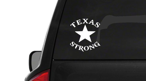 Texas Strong Star (H4) Dallas Support Vinyl Decal Sticker Car/Truck Laptop/Netbook Window