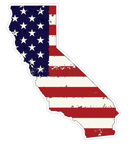 California State (J7) USA Flag Distressed Vinyl Decal Sticker Car/Truck Laptop/Netbook Window