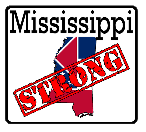 Mississippi State (K25) Strong Flag Vinyl Decal Sticker Car/Truck Laptop/Netbook Window