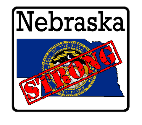 Nebraska State (K28) Strong Flag Vinyl Decal Sticker Car/Truck Laptop/Netbook Window