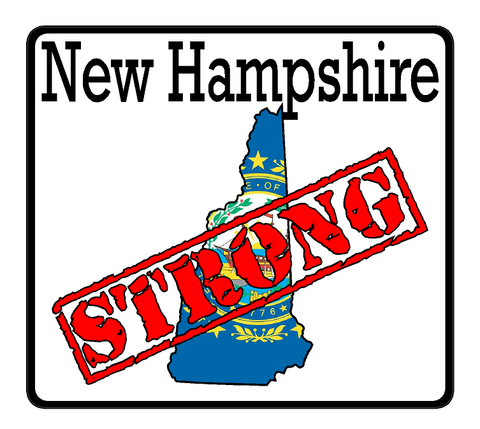 New Hampshire State (K30) Strong Flag Vinyl Decal Sticker Car/Truck Laptop/Netbook Window