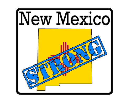 New Mexico State (K32) Strong Flag Vinyl Decal Sticker Car/Truck Laptop/Netbook Window