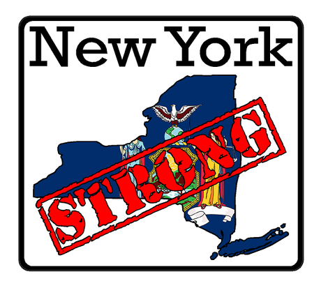 New York State (K33) Strong Flag Vinyl Decal Sticker Car/Truck Laptop/Netbook Window