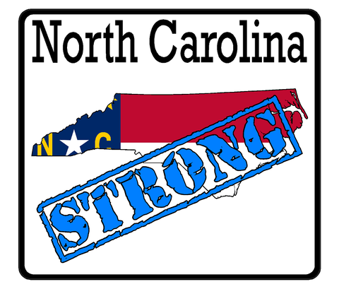 North Carolina State (K34) Strong Flag Vinyl Decal Sticker Car/Truck Laptop/Netbook Window