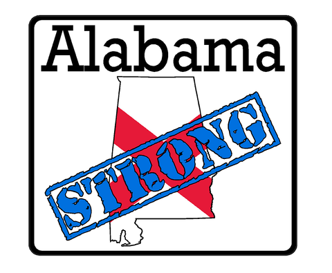 Alabama State (K3) Strong Vinyl Decal Sticker Car/Truck Laptop/Netbook Window