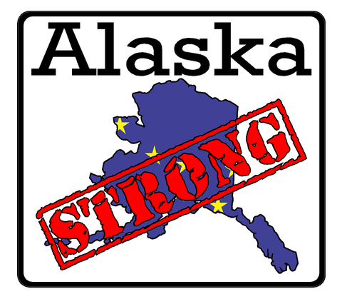 Alaska State (K4) Strong Vinyl Decal Sticker Car/Truck Laptop/Netbook Window