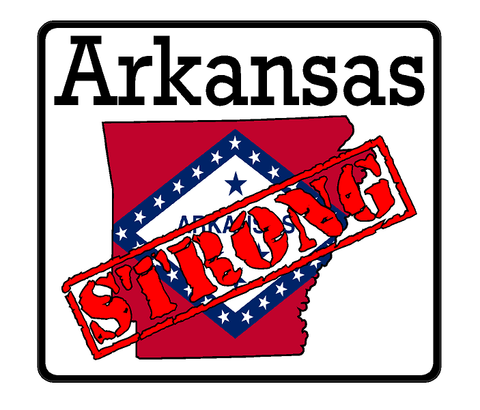 Arkansas State (K6) Strong Vinyl Decal Sticker Car/Truck Laptop/Netbook Window