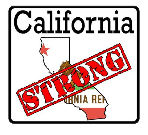 California State (K7) Strong Vinyl Decal Sticker Car/Truck Laptop/Netbook Window