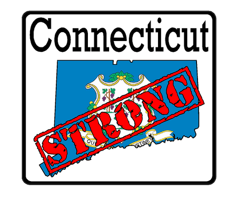 Connecticut State (K9) Strong Vinyl Decal Sticker Car/Truck Laptop/Netbook Window