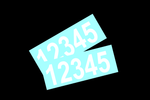 Set of 2 Address Numbers 3 Inch Tall Personalized Vinyl Custom Street Mailbox Decal Stickers